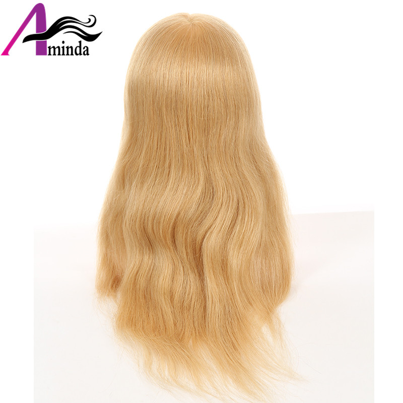 46CM Golden Blonde Hair Styling Dolls Heads Hairdressing Mannequin Head With 100%Real Human Hair Dummy For Hairstyles (12)