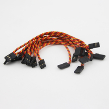 OliYin 10PCS 26# 26AWG 30 Cores Flight Control Connection Cable Male to Male Servo Cable JR Futaba Twisted Cable 10cm 15cm