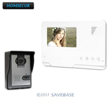 4.3inch HOMSECUR Video Door Entry Security Intercom with Outdoor Monitoring for Apartment(China)