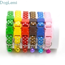 dog collar Doglemi Lovely pet Hot Cute Bell Collar Small Dog Collar Cat Collars oct1026