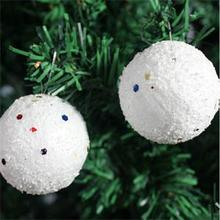 6Pcs White Christmas Balls Snowballs Xmas Tree Hanging Decorations Party Ornaments Holiday Decoration Free Shipping Wholesale