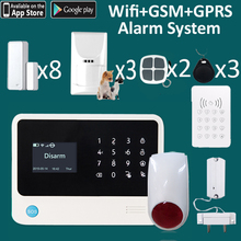 Water flood leakage detector sensor alarm system wifi gsm push alert to APP security home all defense(China)