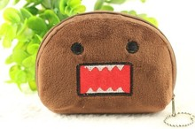 Kawaii Japan Domo KUN Half Round 11CM Plush Coin Pouch Wallet Purse Lady Girl's Storage Pendant Gift BAG Pouch Handbag Case(China)
