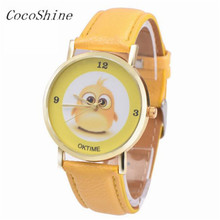 CocoShine A-829 Metal Alarm clock printing Analog Quartz Vogue Wrist Watch !Support wholesale wholesale(China)