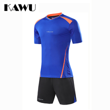 KAWU Custom Made 2017 football jerseys Set Men Soccer survetement T Shirt + shorts  Clothes Short Sleeve maillot de foot S17019