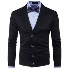 Hirigin Casual Men's Cable Knit Shawl Collar Cardigan Thick Knitwear Long Sleeve V-Neck Button Front Warm(China)