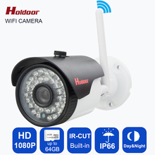 New ip camera 1080p 1920*1080P, onvif IP cctv Wifi camera P2P,Outdoor Waterproof IR Security network IP CCTV Camera smart phone