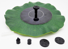7V 1.4W Green Decorative Fountain Pond Brushless Water Pump Lotus Leaf Portable Solar Power Diameter 380mm(China)