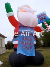 inflatable Santa Claus eat ice cream for Christmas decoration
