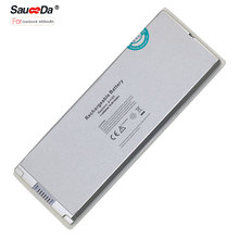 sauceda 6 cells Laptop Battery For MacBook 13.3 inch Series 4400mAh 10.8V laptop battery pack for APPLE 1185 a1185 white(China)