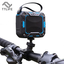 TTLIFE M2 Bicycle Speaker Bluetooth 4.1 Mini Portable Super Stereo Bass Speaker Waterproof IP65 for Rider Car 2000mAh 3.5mm AUX