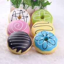 1 Piece 8cm Cute Soft Donut Mobile Phone Straps Squishy Toys Keychain for Phone Decor Slow Rising Straps Kids Toys Gift P20