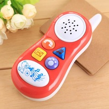 new press button cartoon music talking sound Educational Toy Gift funny kids Cell Phone random colors