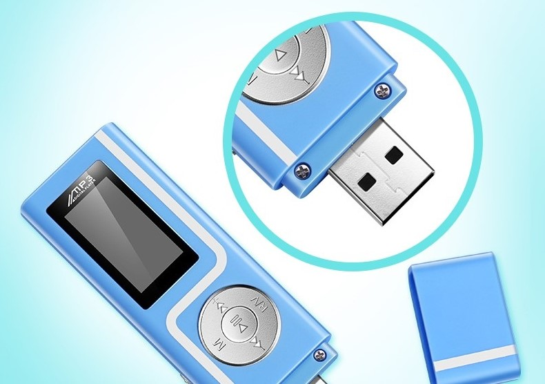 GERUIDA MP3 Player Faster Charge USB MP3 Mini Music Player Also U Disk 2G4G8G With FM Recording  OTG Lanyard  (2)