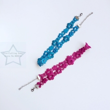 Handmade 1.7CM Blue / Red Rose Chemical Lace & Stainless Steel Jewelry Choker Necklaces(China)