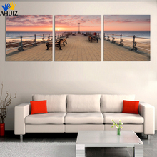 Fashion Painting Picture Sunset Sea Scenery Landscape Home Decorative Art Picture For Living Room Painting on Canvas(No Frame)