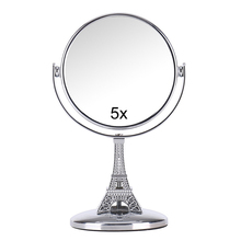 Mini Travel Makeup Mirror Double Sided 5X Magnifying Metal Compact 360 Degree  Rotation Satnd Cosmetic Mirror Makeup Tools