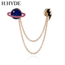 H:HYDE 5 Design Mount Fuji & Clouds & Cat &Omelette Tassel Collar Enamel Pin Faashion Jewelry Men And Women Bijoux(China)