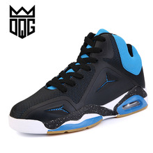 DQG New brand men basketball shoes Breathable lace-up Athletic shoes cheap zapatos hombre autumn black outdoor men ankle shoes(China)