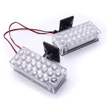 NEW Safurance 2pcs 22 LED Red Flashing Emergency Light Hazard Gril Warning Strobe Flash Lamp Traffic Light Roadway(China)