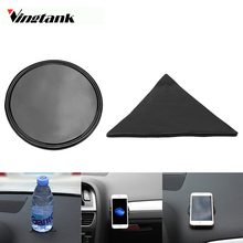 Vingtank Magical Mini Round Triangle Car Mobile Phone Anti-slip Mat Holder Non-Slip Mounting Sticky Gel Pad(China)