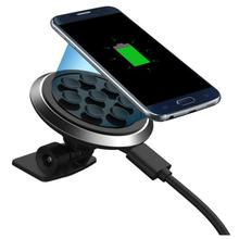 Best Price ! NEW Qi Wireless Car Charger Transmitter Holder Fast Charging For Samsung Galaxy S8 / S8 Plus 5apr25