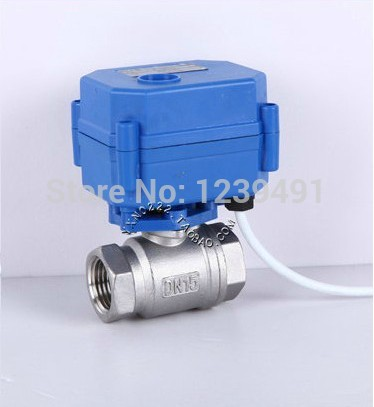Motorized Ball Valve 3/4 DN20 DC5V CR04 Wire 2 way Stainless Steel 304 Electric Ball Valve<br>