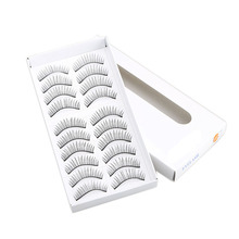 Charming Women Makeup 10 Pairs Black Long Lashes #112 Natural Soft False Eyelashes Makeup Party Eyelashes Eye TN