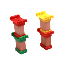 p88 Wood  piers Compatible with Thomas trains Wooden tracks Children's puzzle assembling track game scenes Essential accessories