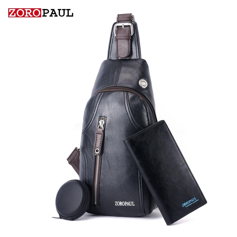 ZOROPAUL Mens Fashion Crossbody Bag Messenger High Quality PU Leather Mens Chest Bag Shoulder Bags For Men Chest Waist Pack<br><br>Aliexpress