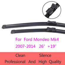 "High-Quality Windshield Wiper Blades for Ford Mondeo Mk4  2007-2014 26""+19"" Car Accessories Soft Rubber Wiper Blades"