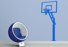 Basketball Stands 3d Sports Wall Decals Sticker New Promotional Water-Proof Football Stickers For Children Room
