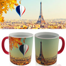Magic Mug Heat Sensitive Color Changing Coffee Mugs 350ml 12 oz Ceramic Hot Cold Colour Change Tea Mug     Designs One Piece