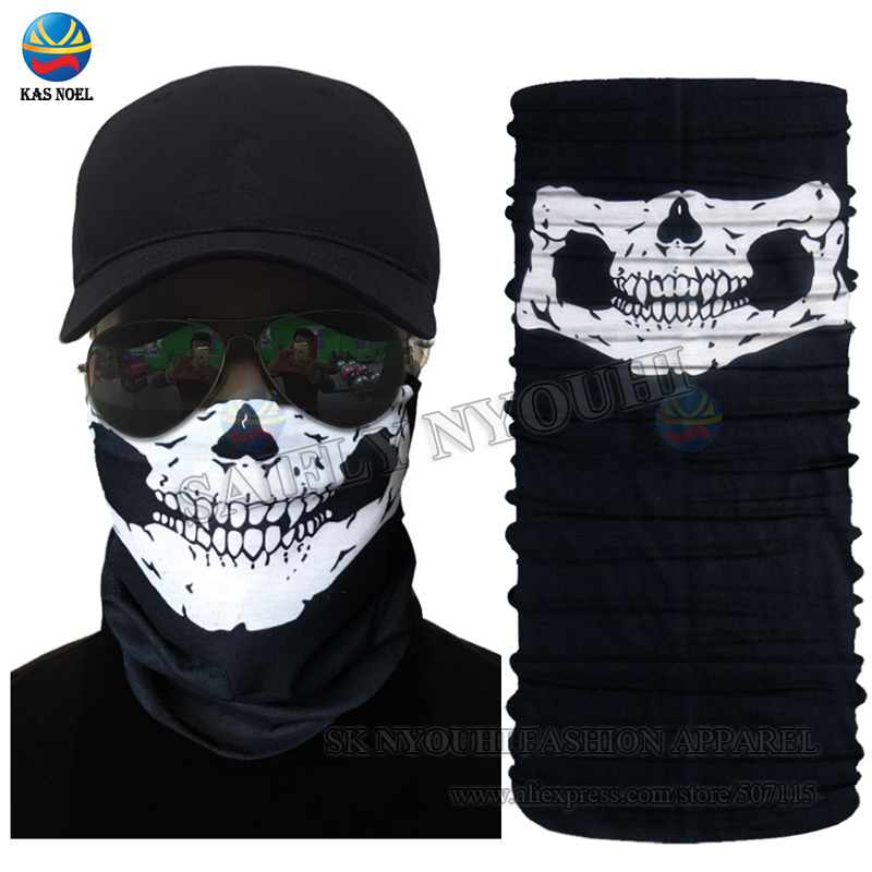 Red White Fashion Tubular Multi Function Headwear Balaclava Beanie Cap Scarf