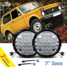 COLIGHT Daytime Running Lights for Auto Headlight Niva UAZ Jeep Wrangler 7 Inch Drl 70W 35W 6000K H4 Head Light 5D Projector(China)
