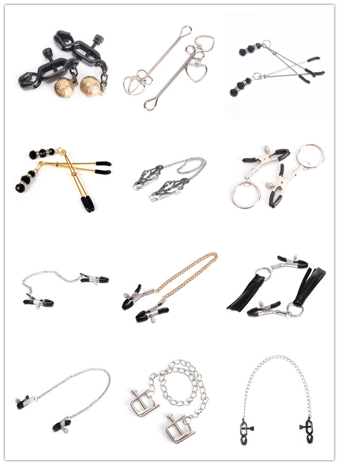 Nipple Clamps Breast Clip For Women Multi Styles Milk Clip With Metal Chain Couples Sex Nipple Clamps Bdsm Exotic Accessories