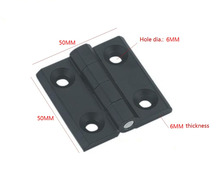 5PCS BLACK 6mm Mount Hole Zinc alloy die-casting hinge Closet Cabinet Door Butt Hinge 50mm x 50mm Bearing Hinge