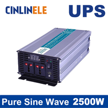 Universal inverter UPS+Charger 2000W Pure Sine Wave Inverter CLP2000A DC 12V 24V 48V to AC 110V 220V 2000W Surge Power 4000W(China)