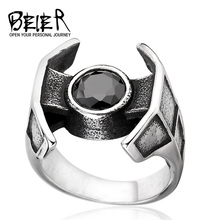 Star Wars Spacecraft For Boy And Girl 316L Stainless Steel Unique Man's Cool Fashion Movie Jewelry Ring BR8-260