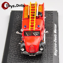 1:72 Magirus-Deutz Mercur Scaling Ladder Alloy Diecast Fire Truck Model Diecast Car Kids Toys Collection Gifts(China)