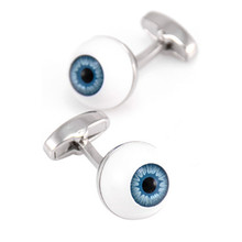 Julie Wang Blue Eye Pupil Cufflinks Other High-grade Men and Women Gift French Shirt Sleeve Nail Fit Ceremony Celebration Gifts