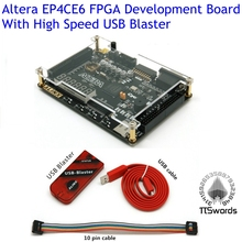 2017 ALTERA Cyclone IV EP4CE6 FPGA Development Kit Altera EP4CE EP4CE6F17C8 Board with USB Blaster downloader(China)