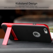ROCK Royce Series Phone Case For iPhone 6 6s Innovative Kickstand phone shell Phone Bag Back Covers For 6plus 6splus