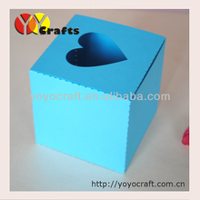 hot sell wedding supply free logo laser cut paper in various color wedding cake favor box