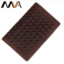 MVA Medium Wallet Vintage Money Fold Wallet Men Genuine Leather Wallets Clutch Men Wallets Purse Photo Card Holder Male Purse