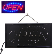 110V Bright Animated Motion Running Neon LED Business Store Shop OPEN Sign - L057 New hot