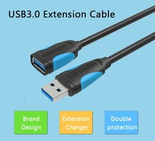 High Speed Transmission USB 3.0 Extension Cable USB 3.0 Male To Female Extension Data Sync Cord Cable Adapter(China)