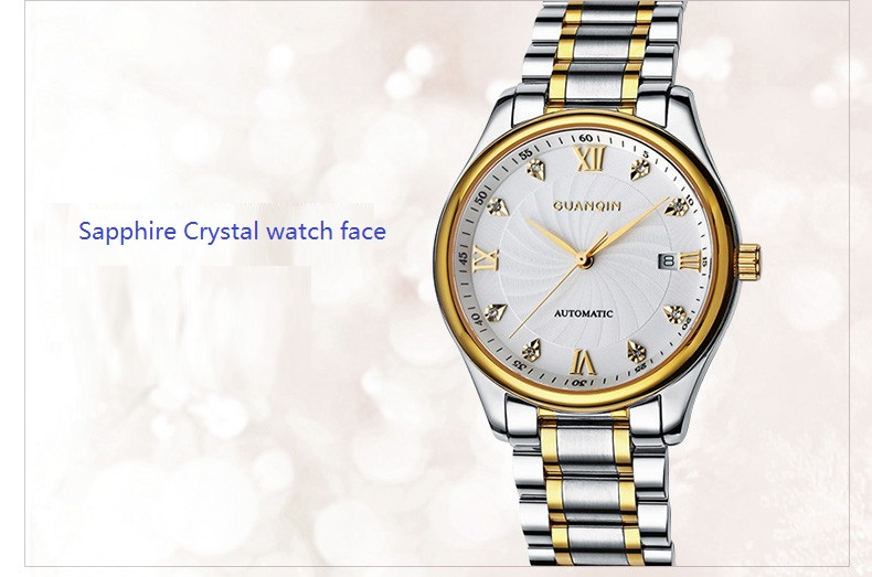 GUANQIN Luxury Lovers Watch Top Brand Women Men Watches Waterproof Sapphire Crystal 316L Stainless Steel Couple Watches 2 Pieces (8)