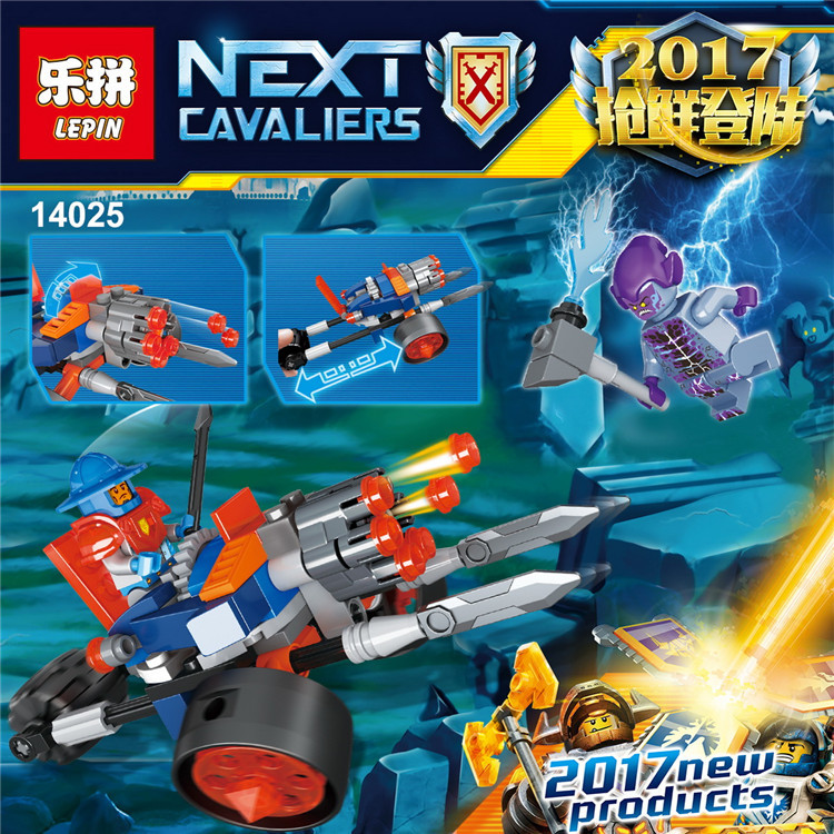 Lepin 14025 Nexus Knights Building Blocks set Kings Guard Artillery minifigures Kids gift bricks toys compatible with 70347<br><br>Aliexpress