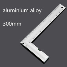Square woodworking Aluminum Alloy square 90 square feet with a level of woodworking square 30cm